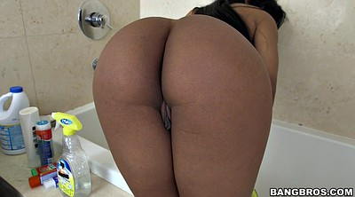Big butt latina, Cleaning, The maid, Shower solo, Latina maid, Clean