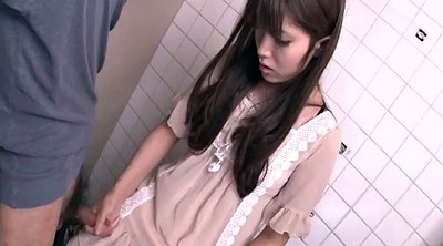 Abuse, Japanese girl, Handjob japanese, Bathroom