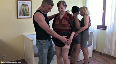 Party, Granny group, Matures, Mature party, Granny old, Young sex party