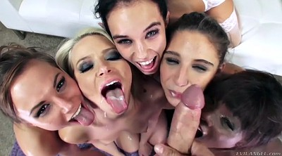 Reverse cowgirl, Reverse, Group anal, Black gang bang