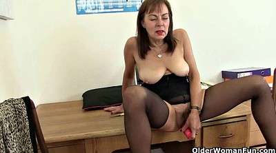 Collection, British milf, Nylon fetish, Mature nylon