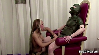 Latex, Older, Old man young, German femdom