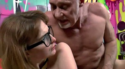 Old man, Abuse, Abused, Schoolgirl fuck, Ginger, Anal granny