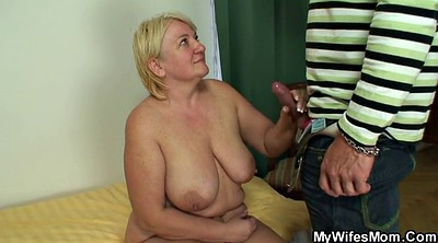 Husband, Milf mom, Young blonde, Tits mom, Mom busty, Granny big tits