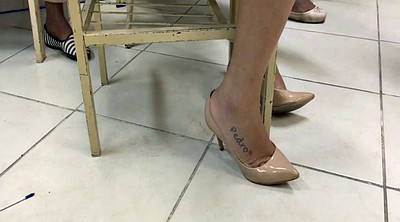 Heels, College, High heels, Candid, Tatooed