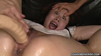 Japanese bdsm, Japanese bondage, Asian bdsm, Hairy dildo, Filled