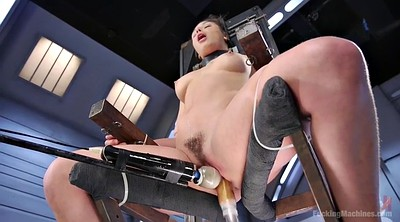 Tied, Tied up, Machine fuck, Hairy solo, Fuck machine