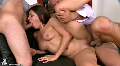 Secretary, Close, Threesome anal