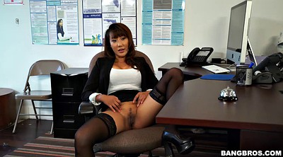 Stocking, Secretary, Striptease, Asian suck