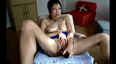 Asian granny, Mature webcam, Mature masturbation, Asian amateur