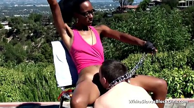 Spanking, Interracial bdsm, Slave, Black and white