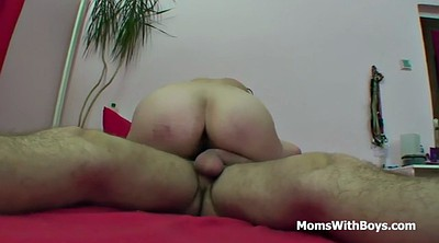 Stepson, Redhead granny, Mom bed, Granny blowjob, Mom fuck, Mature teacher
