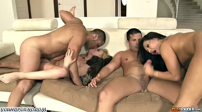 Japanese black, Group, Girl, Asa akira, Japanese group, Black japanese