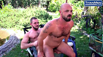 Outdoor, Suck nipples, Nipples, Bears, Gay bear, Nipple piercing