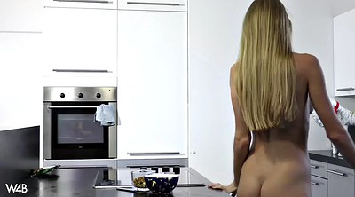 Kitchen, Kitchen solo, Public masturbation, Housewife