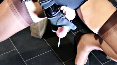 Feet, Nylon, Nylon feet, Gay feet, Amateur handjob