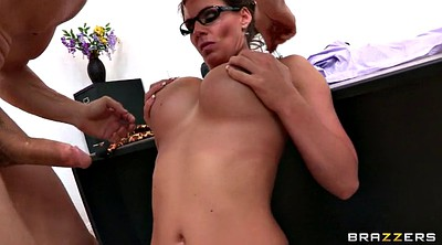 Glasses, Threesome blowjob, Phoenix marie, Marie