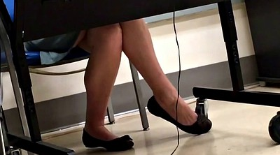 Teacher, Flats, Teacher foot, Candid, Shoeplay