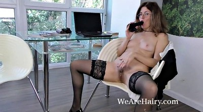 Ebony, Hairy mature masturbation, Chair