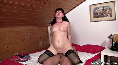 Mom, Stocking, Old mom, Stock, Granny sex, Young stocking