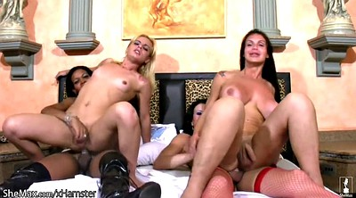 Extreme, Interracial orgy, Interracial bondage, Bondage shemale