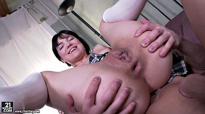Hard anal, Big cock anal, Anal riding, Schoolgirl anal, In bed