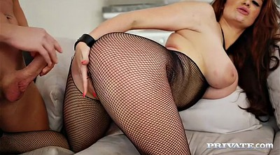 British, Breast, Fishnet