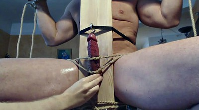 Gay bondage, Chair, Handjob bondage, Edge