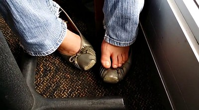 Foot fetish, Flat, Silver, Car masturbation