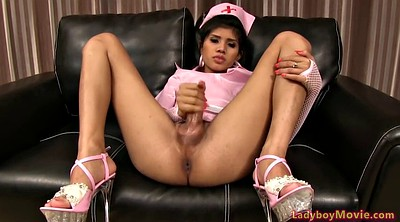 Shemale cum, Asian shemale, Asian nurse