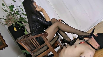 Slave, Male slave, Male, Asian mistress, Sex slave, Asian latex
