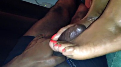 Mature feet, Black footjob