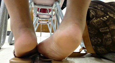 Ebony, College, Shoe, Milf feet, Feet candid