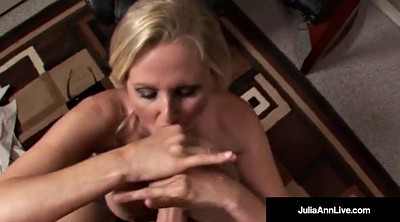 Julia ann, Mature facials
