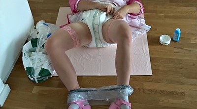 Diaper, Diapers, Changing, Change, Maids, Amateur maid