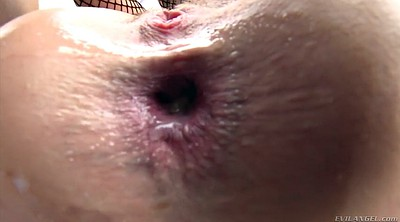 Fishnet, Oiled, Lola, Oil anal, Butthole, Anal destroyed