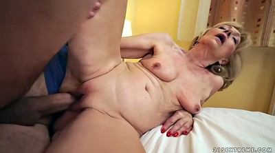 Short hair, Short, Old dick, Senior, Old pussy, Mature riding