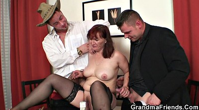 Wife threesome, Poker, Strip poker, Granny stripping