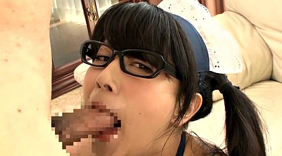 Maid, Asian maid, Asian glasses, Pigtail