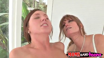 Mom and daughter, Daughter threesome