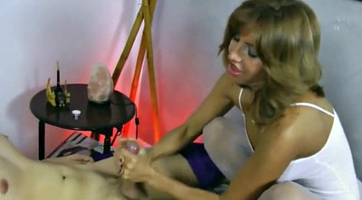 Foot job, Stockings feet, White stockings, Footing