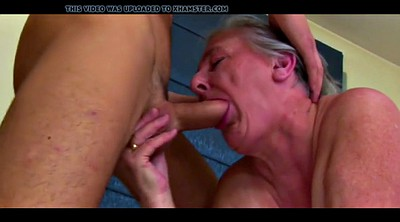 Grandma, Kissing, Cut, Granny blowjob