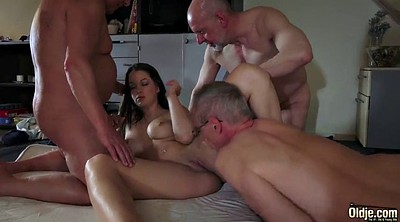Grandpa, Group old, Granny gangbang, Old grandpa, Old young sex, Group granny
