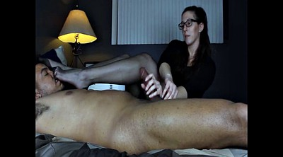 Foot job, Stock, Ebony stockings