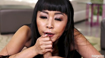 Japanese swallow, Marica hase, Japanese swallowing, Japanese big, Asian swallow, Deep throat swallowing