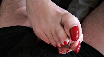 Footjob, Red, Feet up