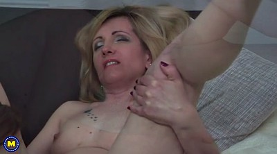 Lesbian milf, Mom sex, Young mom, Mom and