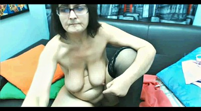 Saggy tits, Granny webcam