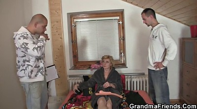 Young wife, Mature threesome, Granny mature, Delivery