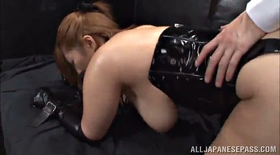 Leather, Corset, Asian long